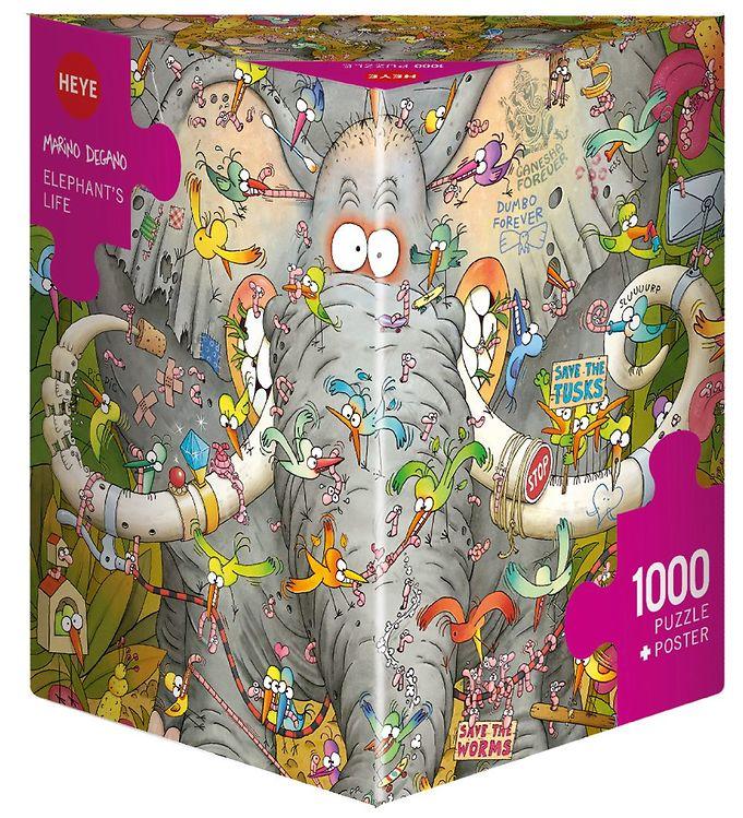 Image of Heye Puzzle Puslespil - 1000 Brikker - Degano - Elephant's Life (NM325)