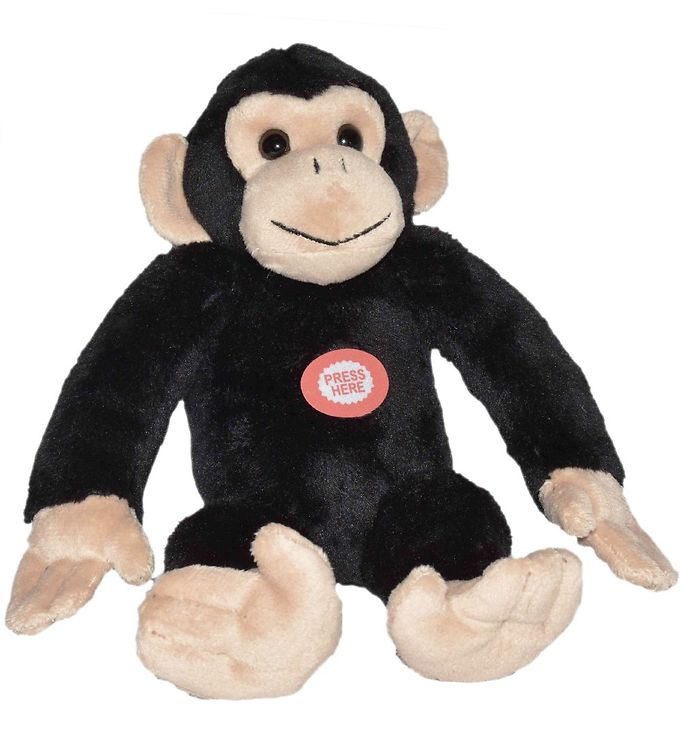 Image of Wild Republic Bamse m. Lyd - 22x16 cm - Chimpanse (NM636)