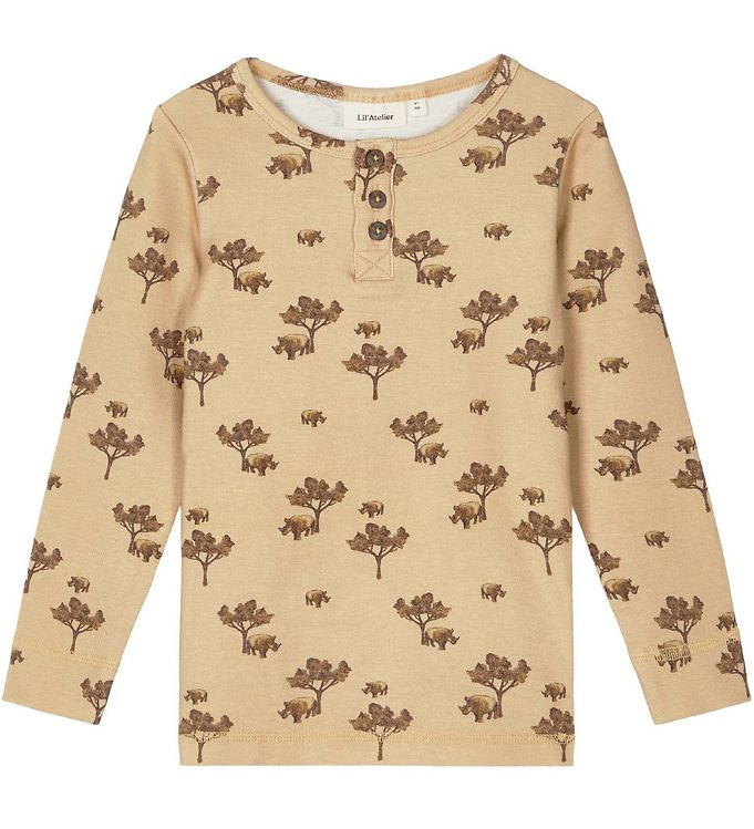 Image of Lil' Atelier Bluse - NmmGeo - Taos Taupe m. Print (NM847)