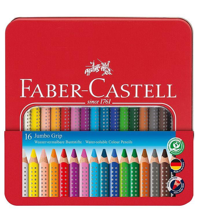 Image of Faber-Castell Farveblyanter - Jumbo Grip - Akvarel - 16 stk - Mu (NN520)