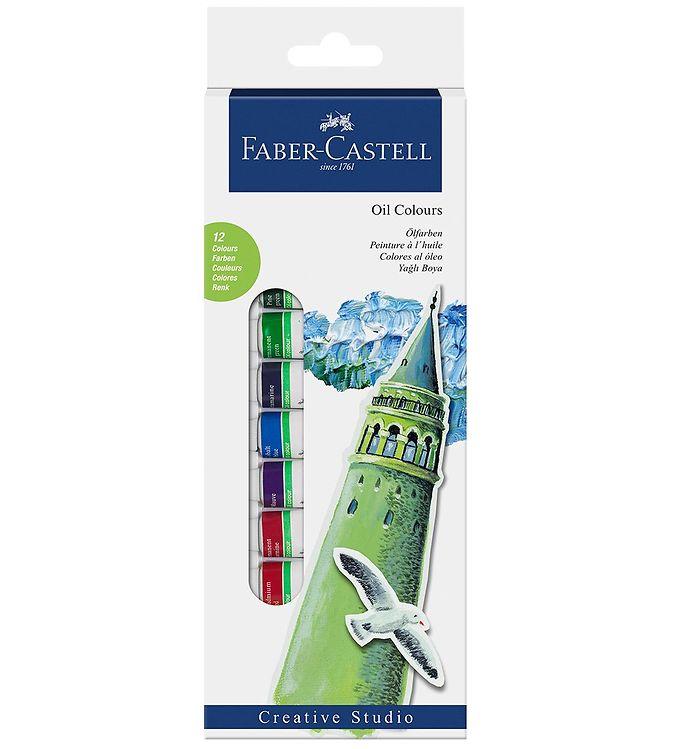 Image of Faber-Castell Startsæt - Oliefarve - 12 stk - Multifarvet (NN537)