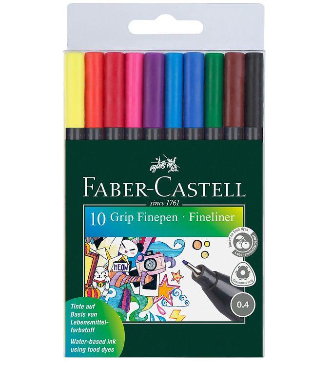 Image of Faber-Castell Fineliner - Grip - 10 stk - Multifarvet (NN548)
