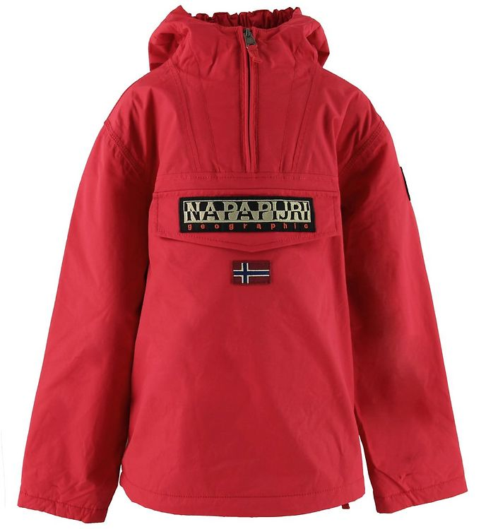 napapijri Napapijri anorak - rainforest - rød på kids-world