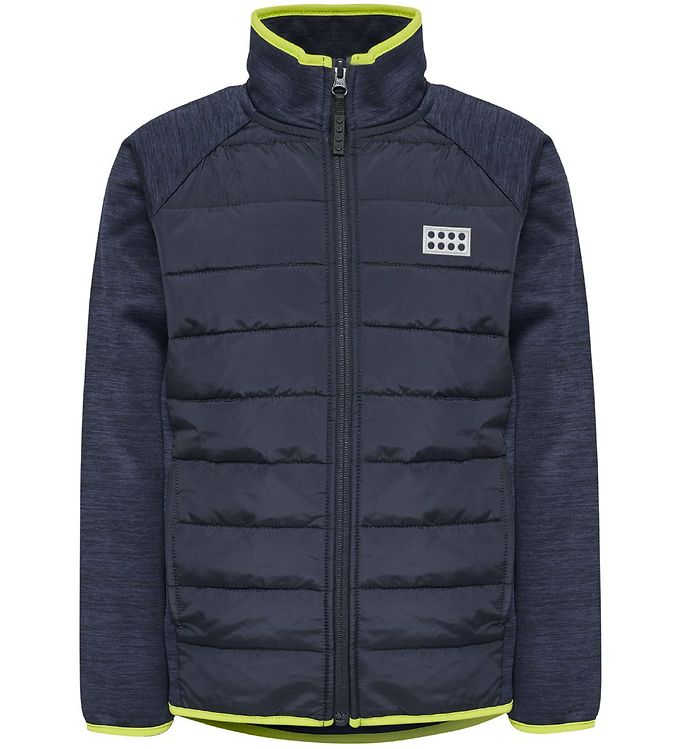 Image of Lego Wear Fleecejakke - Sam - Navy/Lime (OM592)