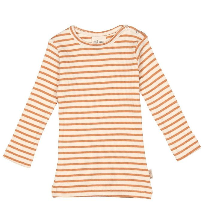 Image of Petit Piao Bluse - Modal Striped - Clay/Eggnog (RA151)