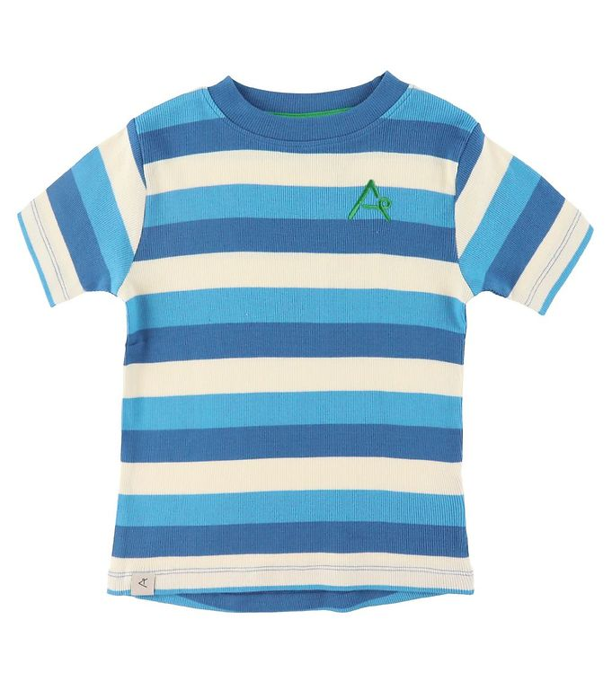 Image of AlbaBaby T-shirt - The Bell - Snorkel Blue Stripes (RA226)