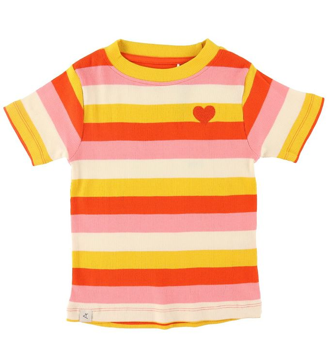 Image of AlbaBaby T-shirt - The Bell - Strawberry Ice Stripes (RA228)