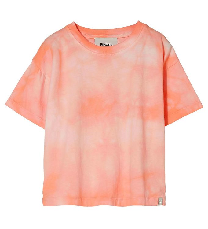 Image of Finger In The Nose T-shirt - Queen - Peach Tie & Dye (RA330)