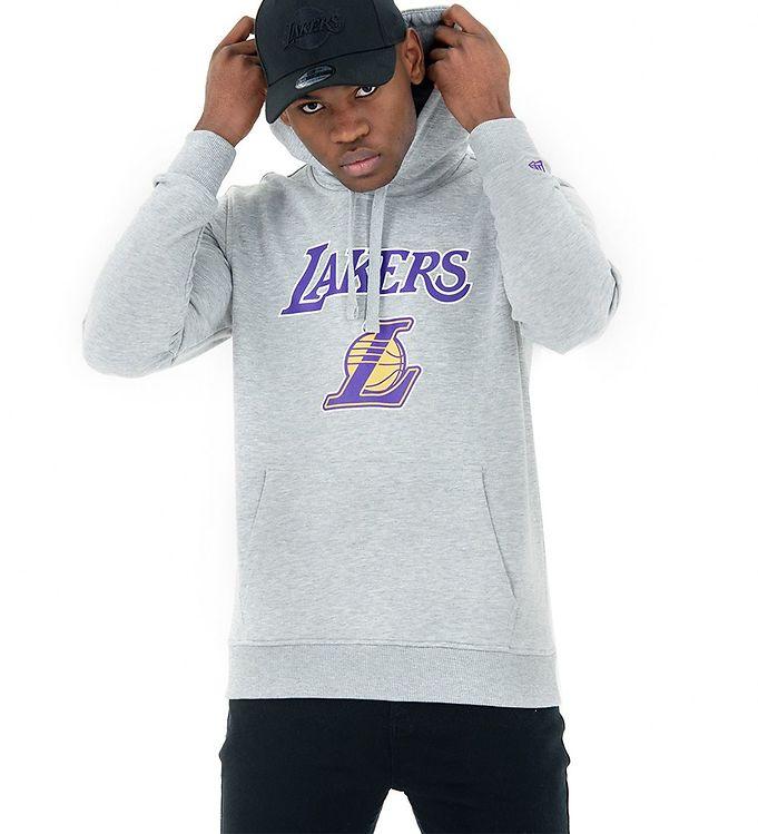 Image of New Era Hættetrøje - Lakers - Gråmeleret (RA373)