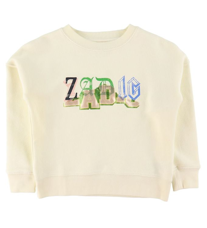 Image of Zadig & Voltaire Sweatshirt - Young Free - Ivory m. Print (RA388)