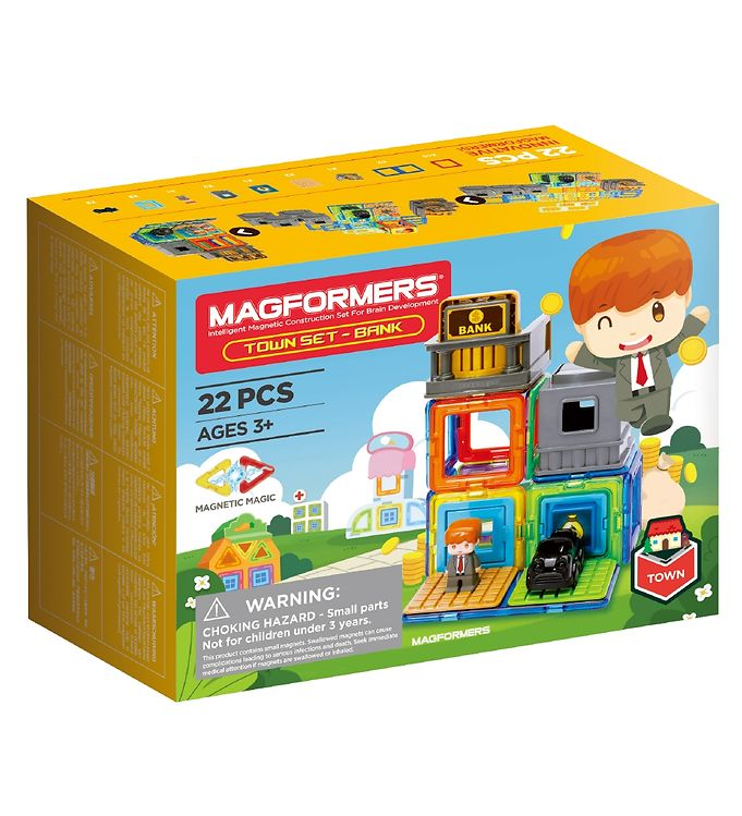 Image of Magformers Magnetsæt - 22 Dele - Bank (RA742)