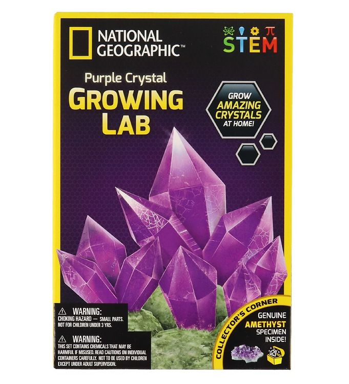 Image of National Geographic Byggesæt - Purple Crystal Growing Lab (RA746)