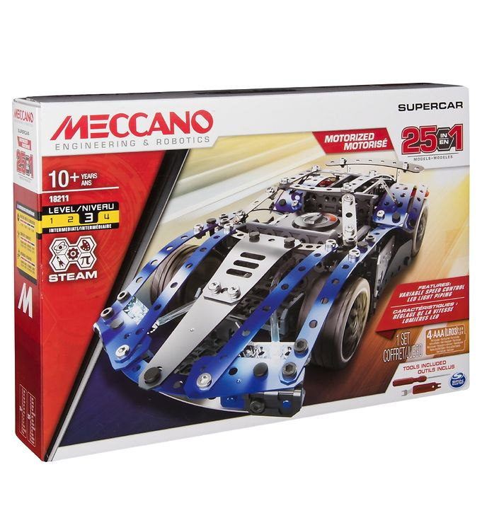 Image of Meccano Byggesæt - 25 i 1 - Supercar (RA759)