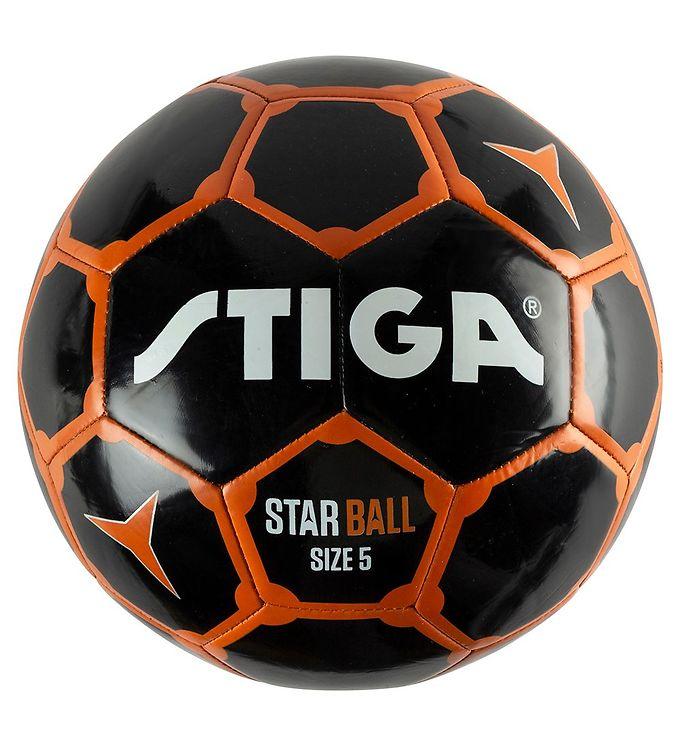 Image of Stiga Fodbold - Star - Str. 5 - Sort/Orange (RB019)