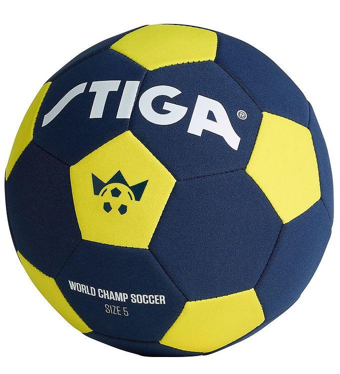 Image of Stiga Fodbold - Neopren - World Champ Soccer - Str. 5 - Blå/Gul (RB020)