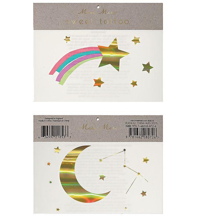 Image of Meri Meri Tatoveringer - Large - Rainbow Shooting Star (RB078)