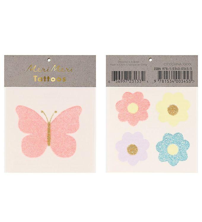 Image of Meri Meri Tatoveringer - Small - Floral Butterfly (RB085)