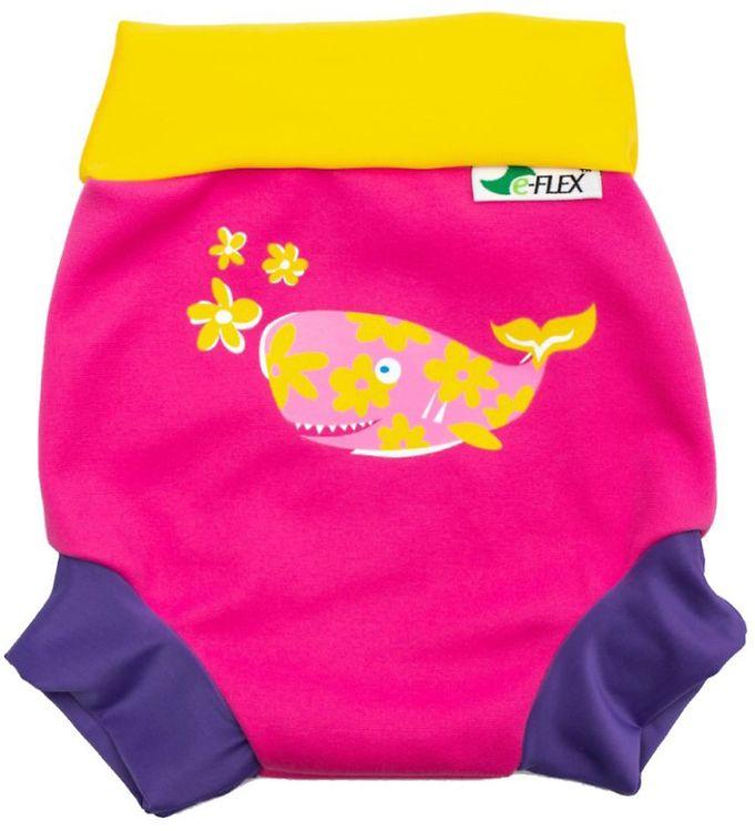 Image of Konfidence Blebadebukser - UV50+ - Swim Nappy - Pink/Yellow Joni (RB842)
