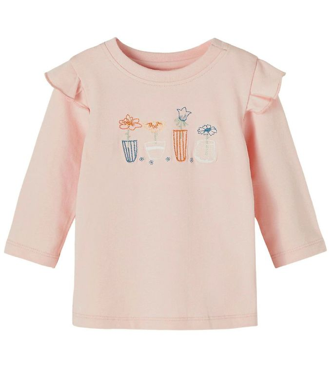 Image of Name It Bluse - NbfDonna - Peach Whip m. Blomster (RC003)