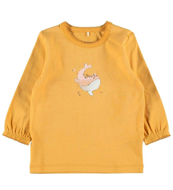 Image of Name It Bluse - NbfFenja - Ochre m. Hval (RC206)