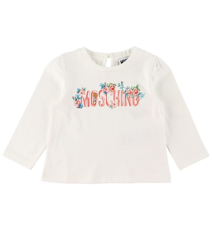 Image of Moschino Bluse - Cloud m. Tekst/Blomster (RC293)