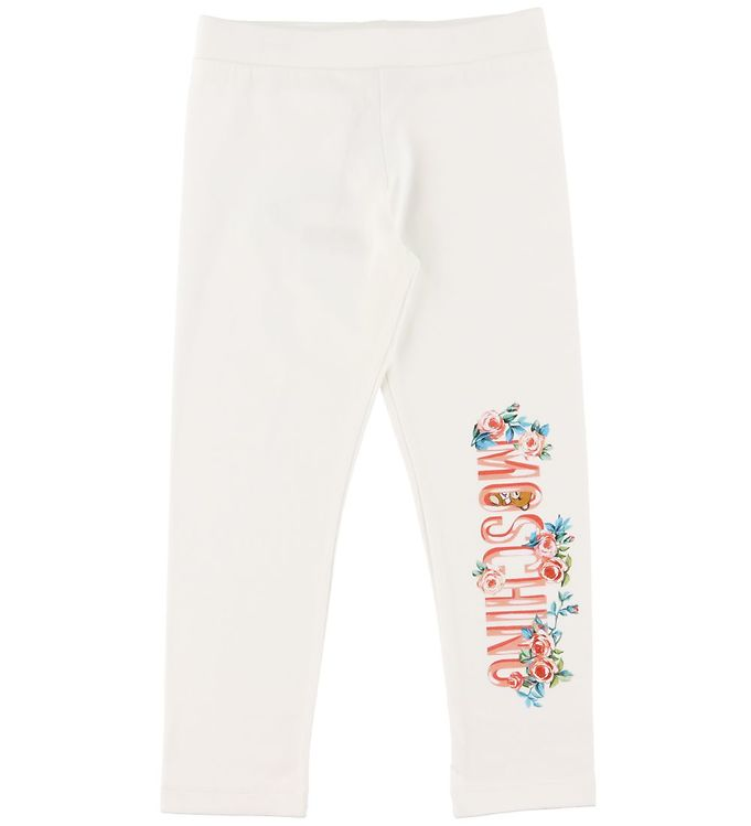 Image of Moschino Leggings - Cloud m. Tekst/Blomster (RC304)