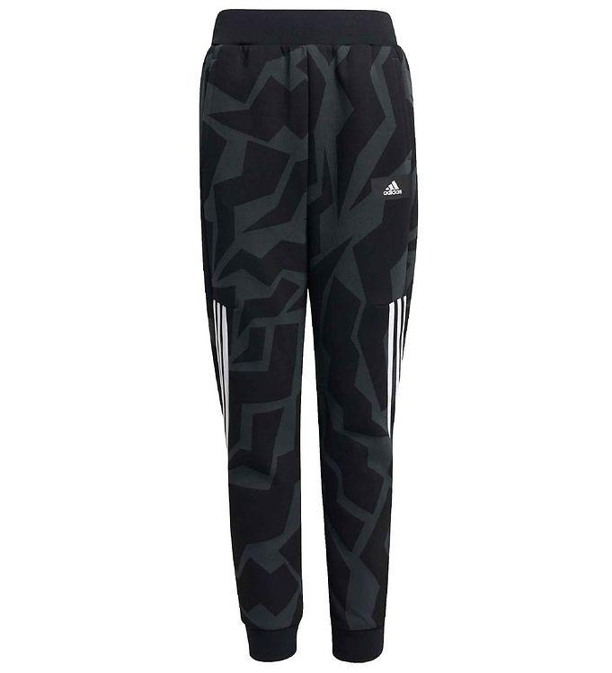 adidas Peformance Sweatpants - FI 3 Stripes - Carbon/Sort/Hvid