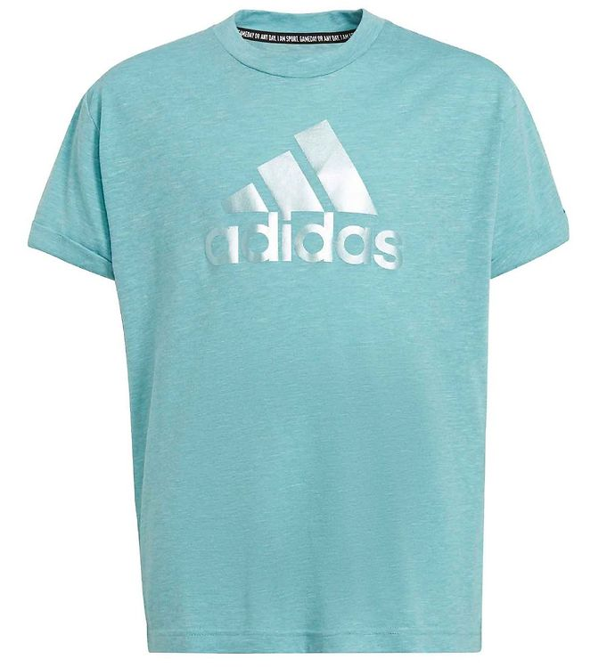 adidas Peformance T-shirt - BOS - Mint Ton m. Sølv
