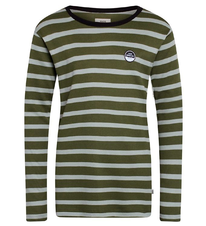 Image of Mads Nørgaard Bluse - Tobino - Olive Night/Wrought Iron (RC592)