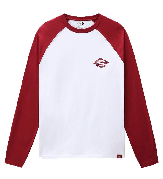 Image of Dickies Bluse - Cologne - Hvid/Bordeaux (RC636)