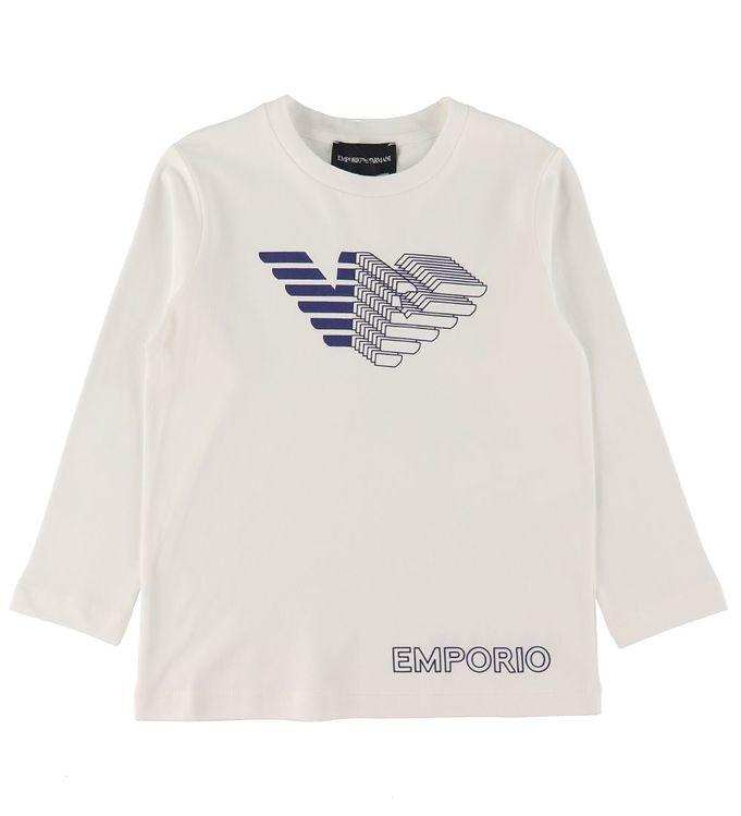 Image of Emporio Armani Bluse - Hvid m. Logo (RC759)