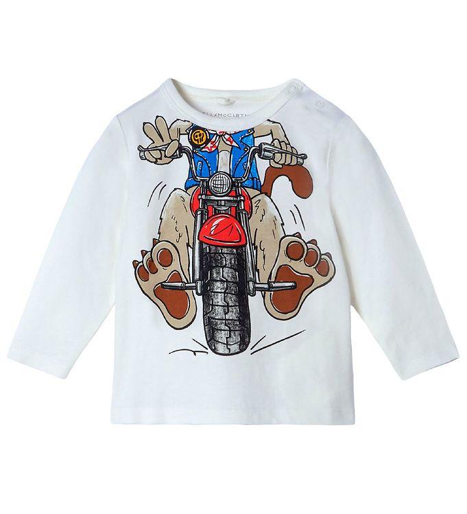 Image of Stella McCartney Kids Bluse - Funny MotorDog - Hvid (RC838)