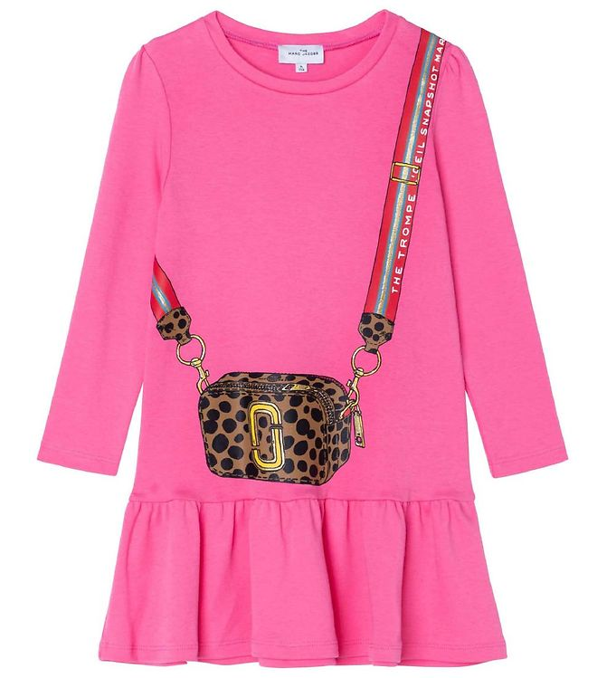 Image of Little Marc Jacobs Kjole - Snow Day in NYC - Fuschia (RC896)
