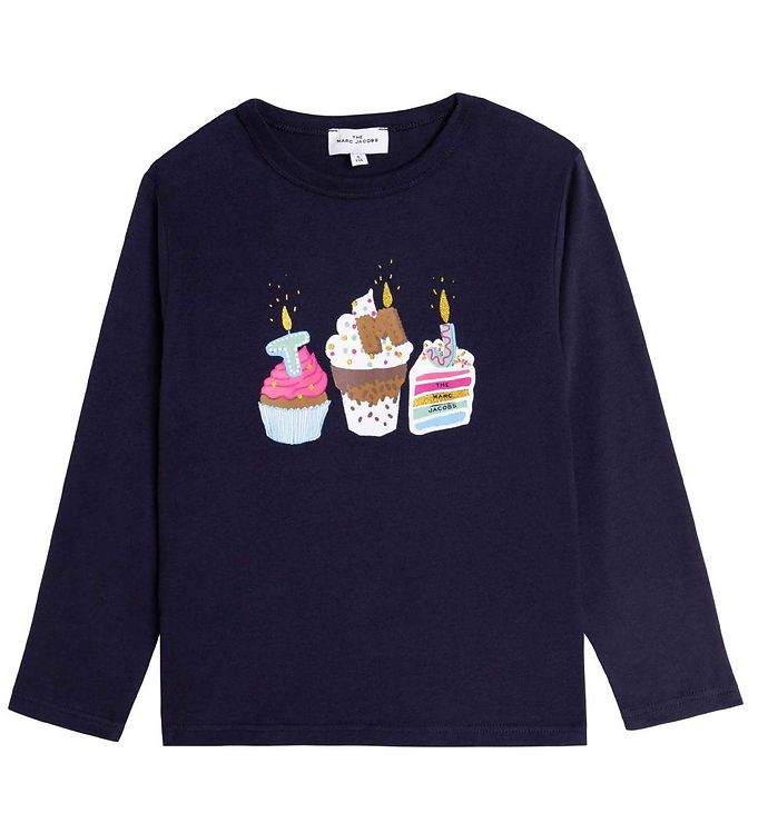 Image of Little Marc Jacobs Bluse - Birthday Party - Navy (RC940)