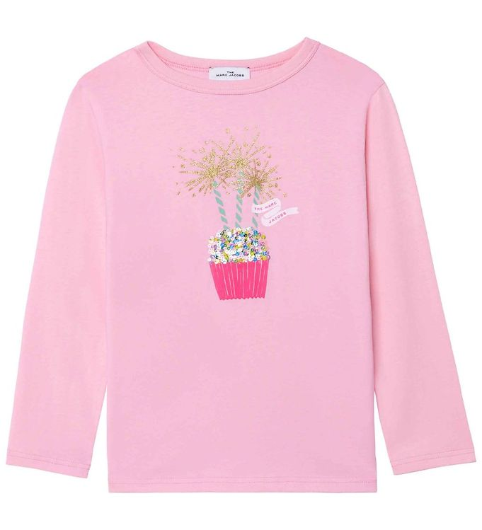 Image of Little Marc Jacobs Bluse - Birthday Party - Washed Pink (RC941)