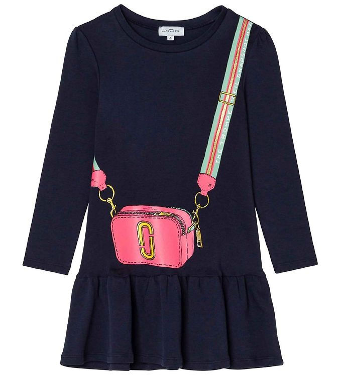 Image of Little Marc Jacobs Kjole - Snow Day in NYC - Navy (RC943)
