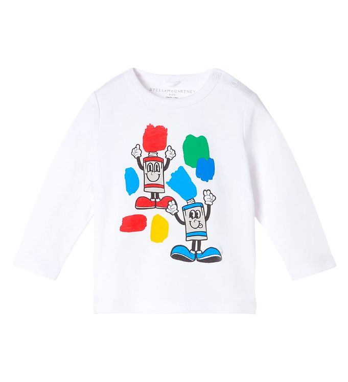 Image of Stella McCartney Kids Bluse - Painting Friends - Off-White (RD157)