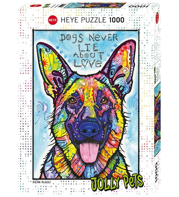 Image of Heye Puzzle Puslespil - Dogs Never Lie - 1000 Brikker (SA084)