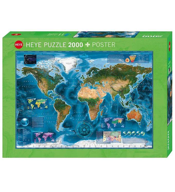Image of Heye Puzzle Puslespil - Satellite Map - 2000 Brikker (SA086)