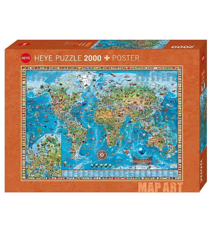 Image of Heye Puzzle Puslespil - Amazing World - 2000 Brikker (SA088)