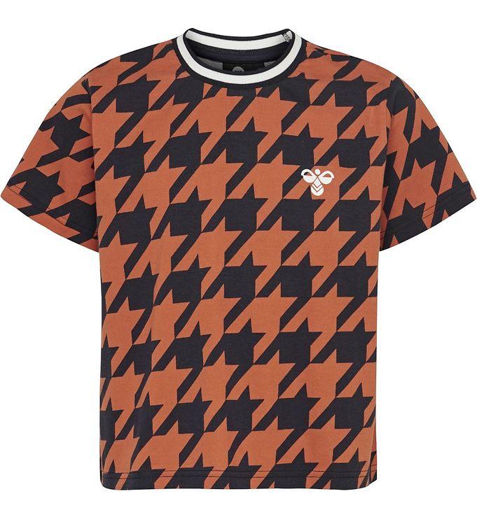 Hummel Teens T-shirt - HMLChick - Navy/Orange m. Tern - AA - Hummel Teens,AA - Xmas vare - Hummel Teens,Hummel T-shirt,Hummel Teens,Hummel Teens Udsalg,Hummel X-Mas19,Pigetøj - Hummel Teens