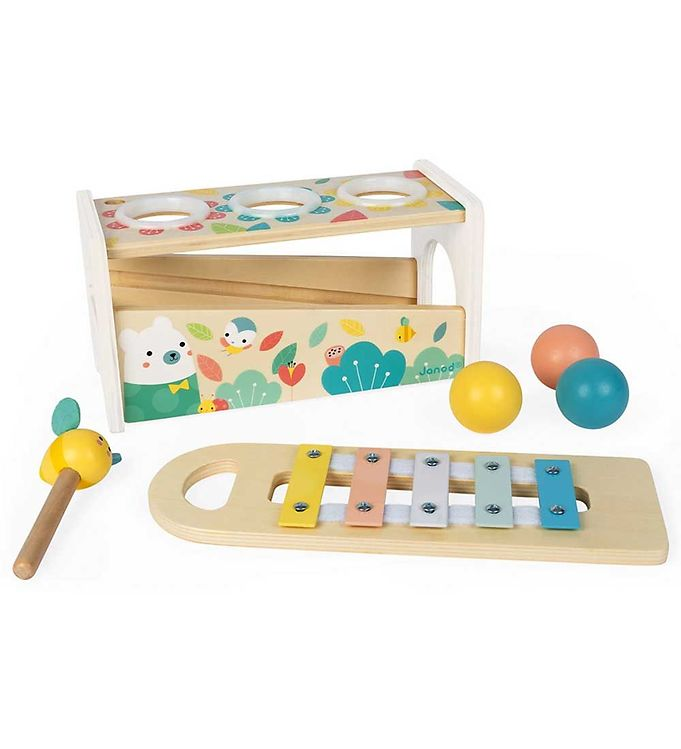 Janod Xylofon - Tap Tap - Janod Babylegetøj,Janod Musikinstrumenter,Janod Trælegetøj,Musikinstrumenter - Janod