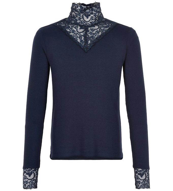 Image of The New Bluse - Olace - Navy Blazer m. Blonder (SA829)