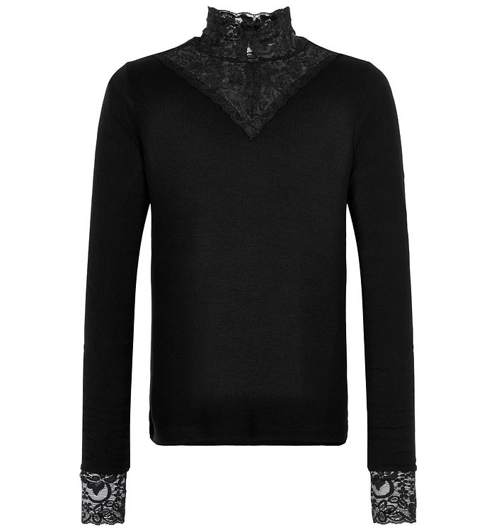 Image of The New Bluse - Olace - Black m. Blonder (SA830)