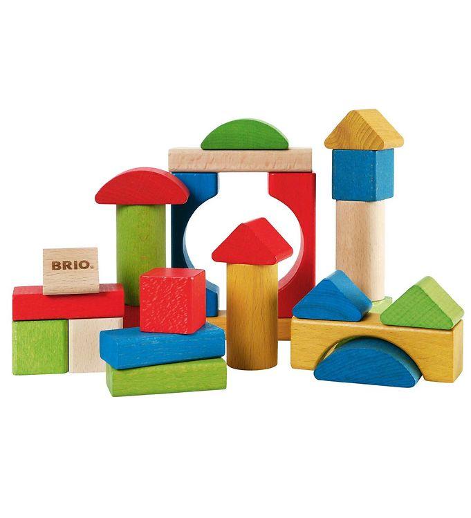 BRIO Toddler Klodser - 25 dele - Træ - Multifarvet - BRIO,BRIO Babylegetøj,BRIO Trælegetøj,Stablelegetøj - Brio