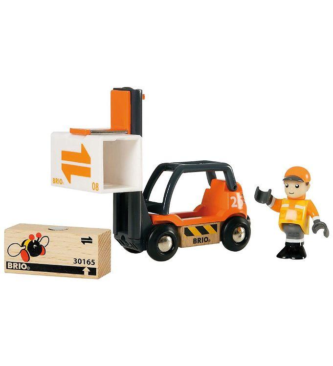 BRIO World Gaffeltruck m. Tilbehør - Orange/Sort - BRIO,BRIO Legetøjsbiler,BRIO Trælegetøj - Brio
