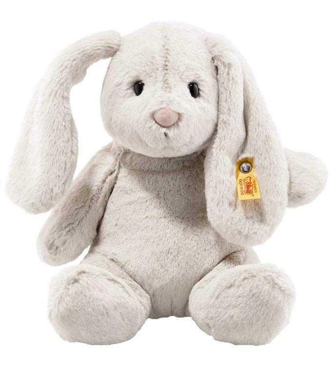 Image of Steiff Bamse - Hoppie Rabbit - 28 cm - Light Grey (SB358)