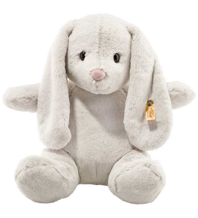 Steiff Bamse - Hoppie Rabbit - 38 cm - Light Grey