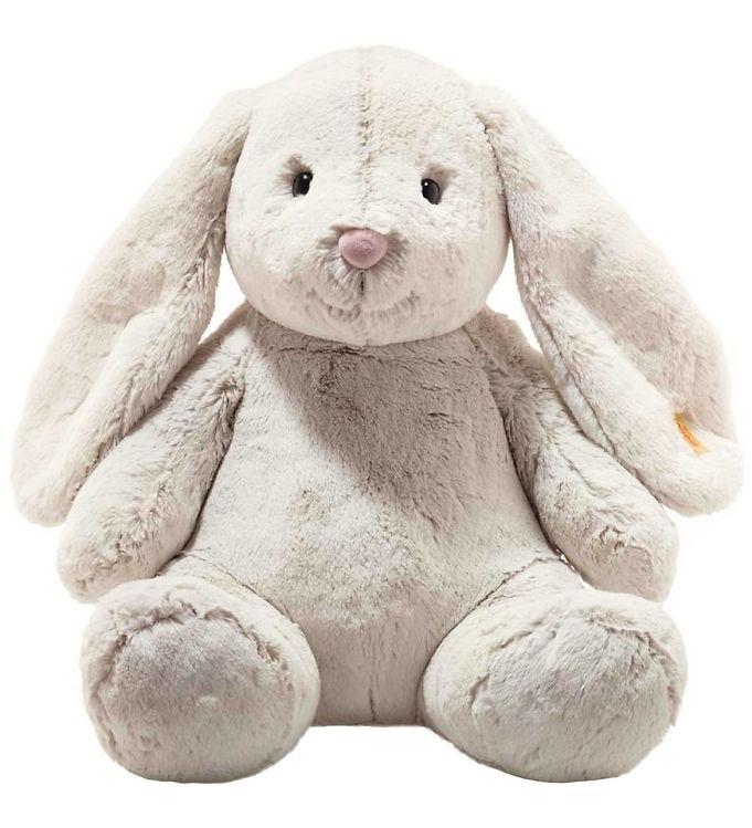 Image of Steiff Bamse - Hoppie Rabbit - 48 cm - Light Grey (SB381)