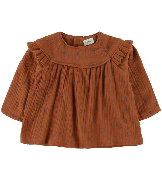 Image of Mini A Ture Bluse - Cenia - Leather Brown (SC270)